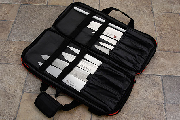 Three Compartment Knife Bag, Red (D301RD)
