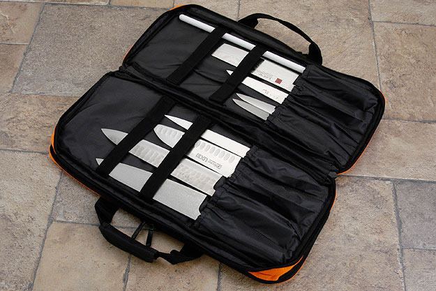 Three Compartment Knife Bag, Orange (D301OR)