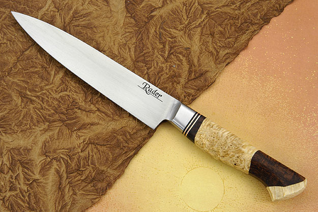 Slicing Knife with Koa and Box Elder Burl (5 3/4 in.)
