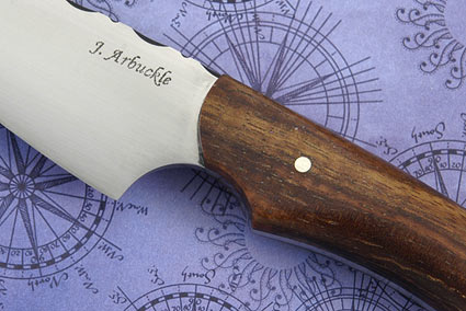 Chef's Utility Knife with Curly Koa