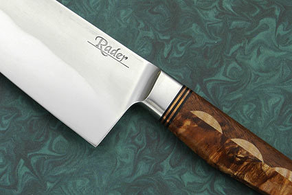 Santoku with Maple and Koa (6 1/4 in)