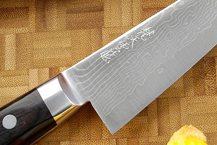 Ryusen Damascus Utility/Boning Knife - Honesuki - 6 in. - Left Handed (150mm)