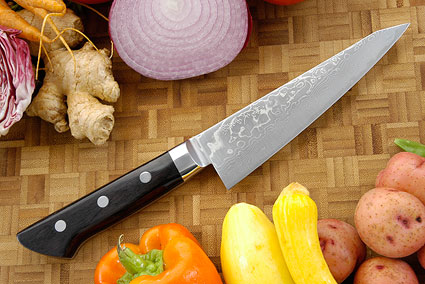 Ryusen Damascus Utility/Boning Knife - Honesuki - 6 in. - Ambidextrous (150mm)