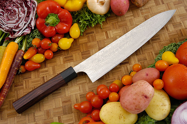 Asai PM Damascus Chef's Knife - Gyuto - 9 1/2 in. (240mm)