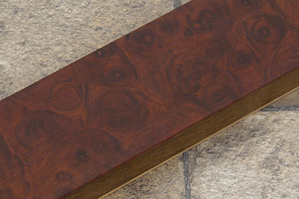 Amboyna Burl Magnetic Knife Strip (12