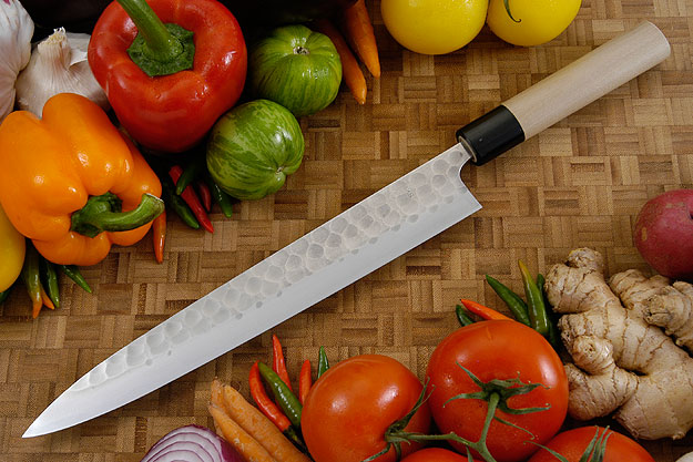 Hammer Finished Carving Knife - Sujihiki, Traditional - 10 2/3 in. (270mm)