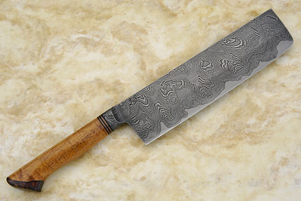 Vegetable Knife - Nakiri (7 3/4 in) with Curly Koa