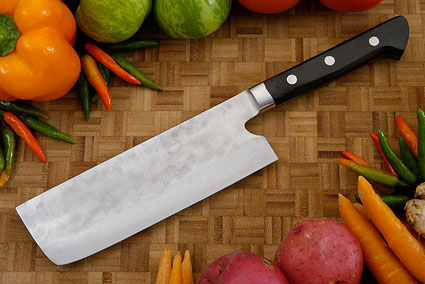 Maboroshi no Meito Vegetable Cleaver - Nakiri, Western - 165mm (6 1/2 in.)