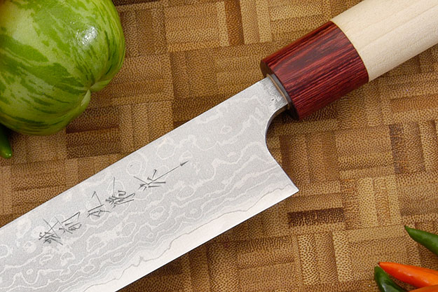 Asai Enji Damascus Slicer - Sujihiki - 9 1/2 in. (240mm)