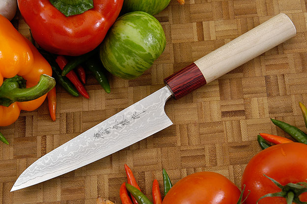 Asai Enji Damascus Utility - Fruit Knife - 5 1/3 in. (135mm)