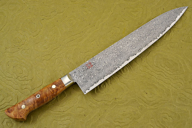 Chef's Knife - Gyuto - 9 1/2 in. (240mm) with Afzelia Burl Handle