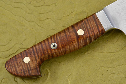 Western Chef's Knife with Curly Koa, Suminagashi - 240mm (9 1/2 in)