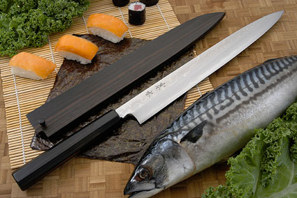 Kansui Suminagashi Right-Handed Yanagiba (Sashimi Knife) - 300mm - with saya