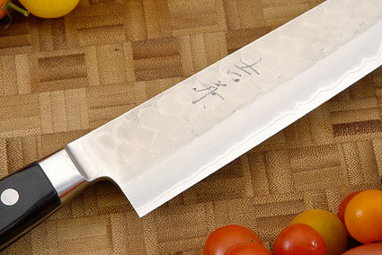 Hammer Finished Carving Knife - Sujihiki, Western - 9 1/2 (240mm)