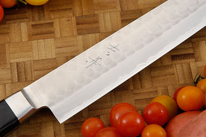 Hammer Finished Carving Knife - Sujihiki, Western - 10 3/4 (270mm)