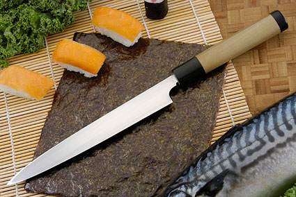 Suminagashi Right-Handed Yanagiba (Sashimi Knife) - 210mm (8 1/4 in.) with Saya