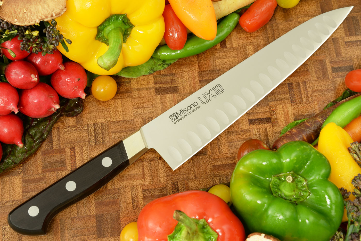 UX10 Chef's Knife - Gyuto, Granton Edge - 8 1/4 in. (210mm) - No. 762 by Misono