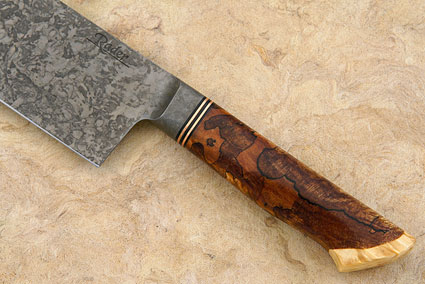 Chef's Knife with Spalted Maple and Box Elder Burl (10 in.)