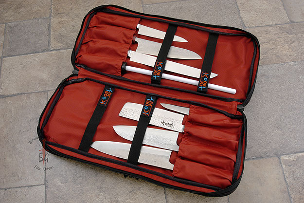 Three Compartment Knife Bag, Black (D401BK)
