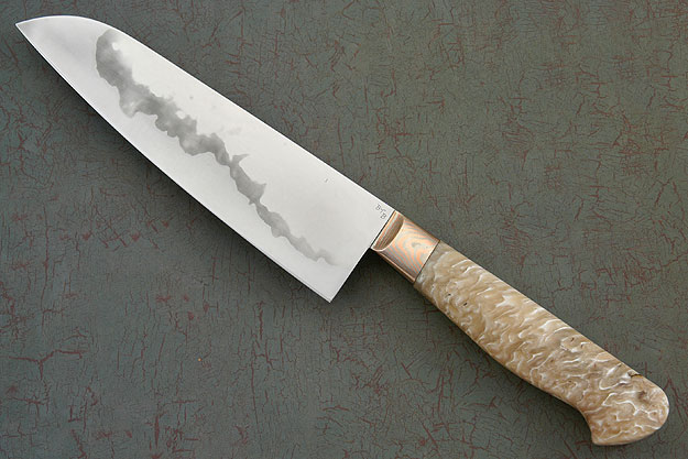Chef's Knife (Santoku) with Musk Ox Horn (7 1/8
