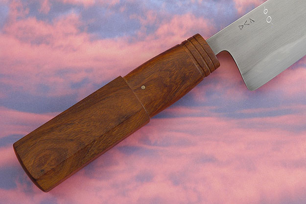 Chef's Knife with Carved Ironwood (Honyaki) - 7-1/4 in.