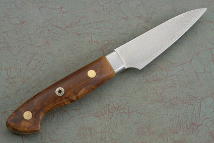 Western Paring Knife with Masur Birch - 75mm (3 in.)