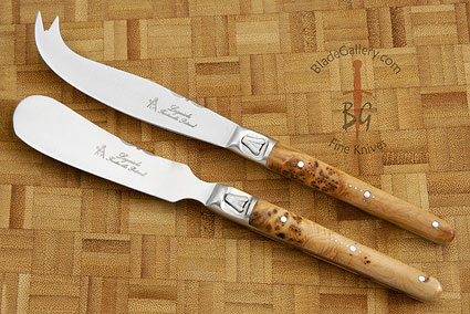 Laguiole Cheese Knife Set with Juniper Handle