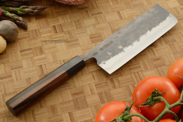 Denka no Hoto Chefs Knife - Nakiri, Traditional with Finger Rest - 165mm (6 1/2 in.)