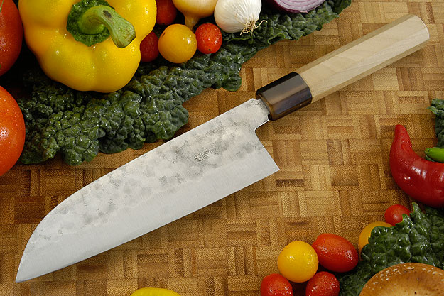Maboroshi no Meito Chefs Knife - Santoku, Traditional - 180mm (7 1/8 in.)