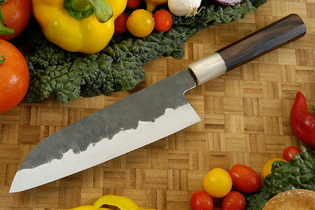 Denka no Hoto Chefs Knife - Santoku, Traditional - 180mm (7 1/8 in.)
