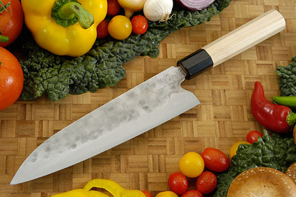 Maboroshi no Meito Chefs Knife - Gyuto, Traditional with Finger Rest - 210mm (8 1/4 in.)