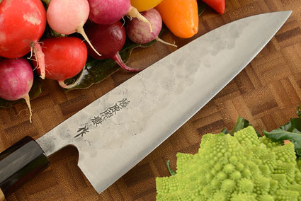 Maboroshi no Meito Chefs Knife - Gyuto, Traditional with Finger Rest - 180mm (7 1/8 in.)