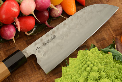 Maboroshi no Meito Chefs Knife - Santoku, Traditional with Finger Rest - 180mm (7 1/8 in.)