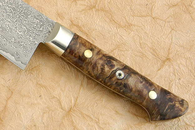 Chef's Knife - Gyuto - 9 1/2 in. (240mm) with Spalted Maple Burl Handle