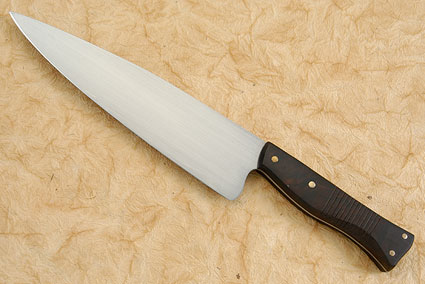 Chef's Knife with Carved Desert Ironwood - 8-1/4