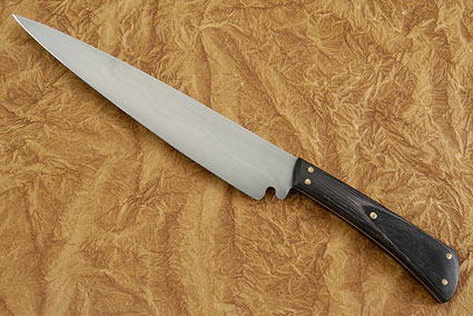 Slicing Knife with Ebony Dymondwood (Honyaki) - 8