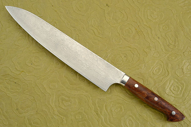 Western Gyuto with Pommele Bubinga Handle, 240mm (9-1/2 in)