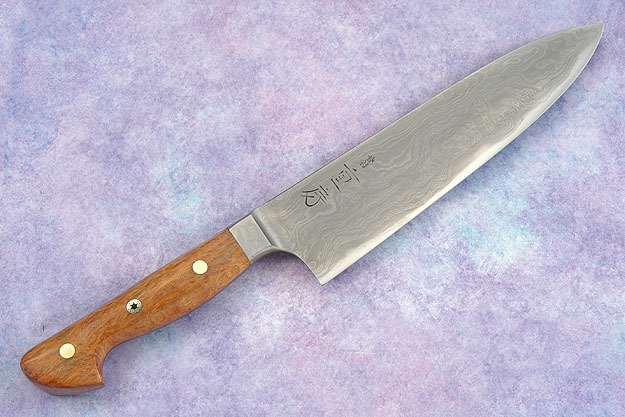 Western Chef's Knife with Sheoak Burl, Suminagashi - 180mm (7 1/8 in)