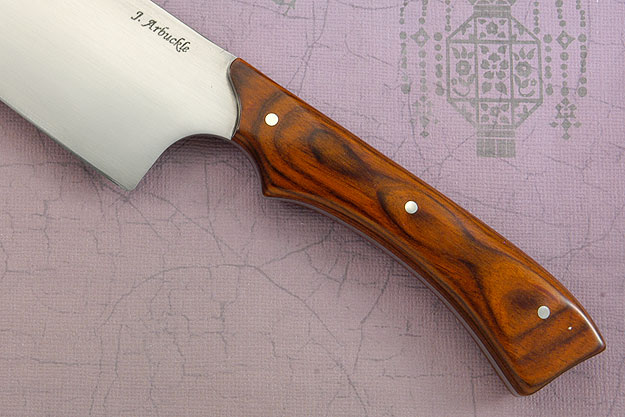 Santoku Chef's Knife with Cocobolo DymondWood (6-1/2 inches)
