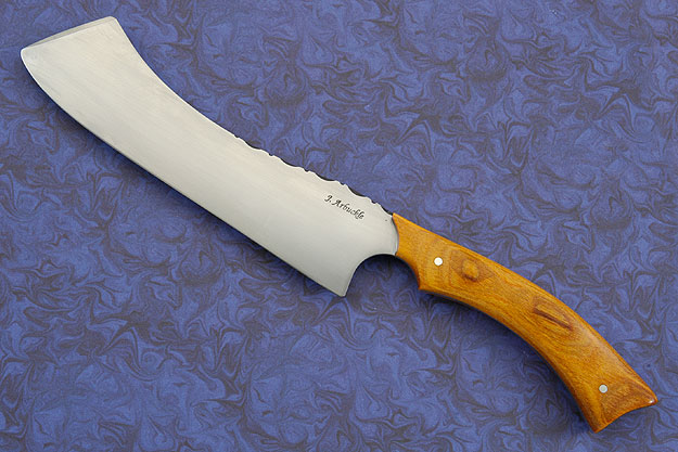 Nakiri-Inspired Vegetable Cleaver with Fiji Orange DymondWood