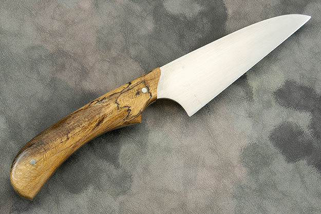 Wharncliffe Chef's Utility Knife (4-1/4 in) with Spalted Sycamore