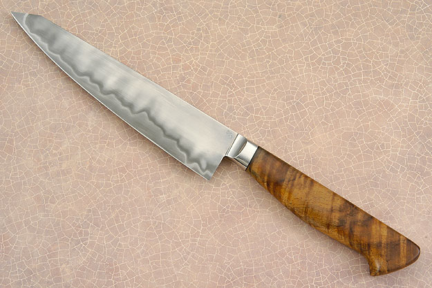 Petit Gyuto/Utility Knife with Curly Koa (6-1/8 in.)