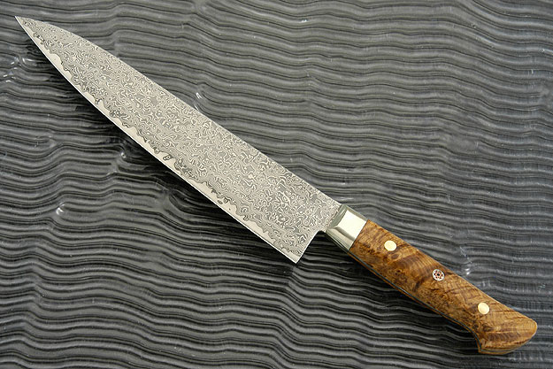 Chef's Knife - Gyuto - 8 1/4 in. (210mm) with Black Ash Burl Handle