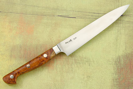 Western Slicing Knife with Amboyna Burl - 150mm (6 in)
