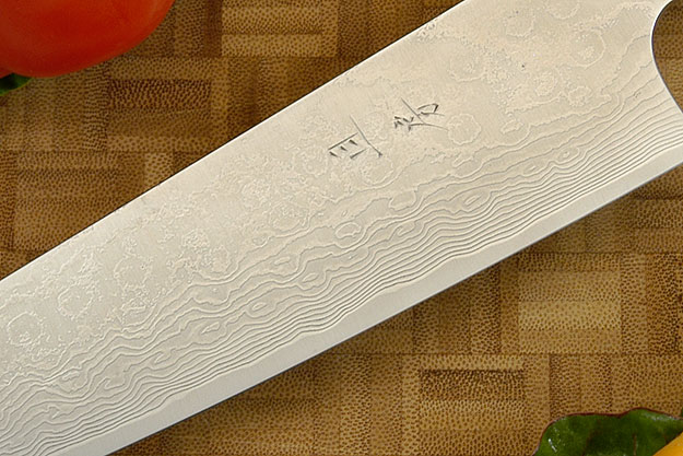 Western Gyuto with Spalted Maple Handle, Suminagashi - 210mm (8-1/4 in)