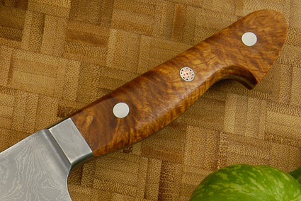 Western Chef's Knife with Maidou Burl, Suminagashi - 180mm (7 1/8 in)