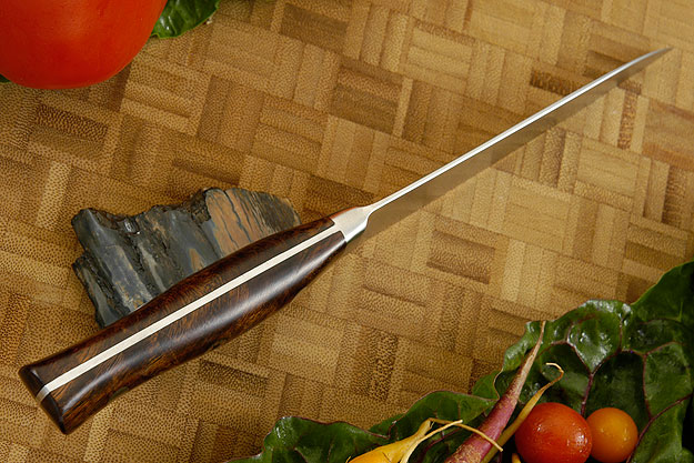 Damascus Utility - Fruit Knife with Ironwood - 135mm/5 1/4 in.