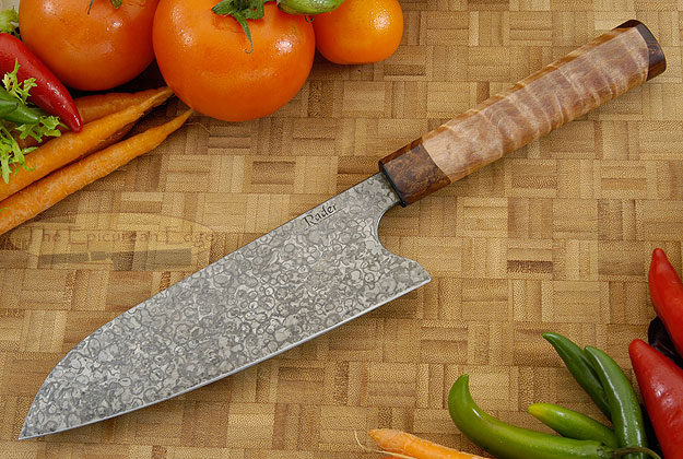 Chef's Knife - Santoku with Maple (7 in)