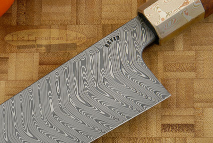 Chef's Knife - Gyuto (10-3/4 in.) with Chevron Damascus, Mokume Gane and Desert Ironwood