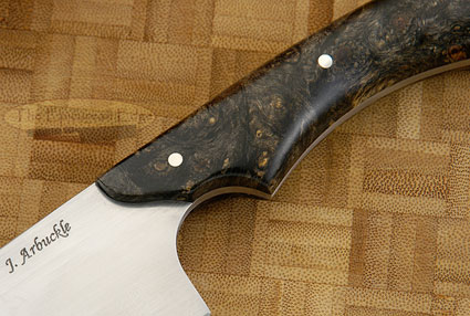 Chef's Knife (4-1/4 in) with Box Elder Burl
